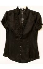 White House Black Market Women's Silk Black Blouse. Size: 4 -1