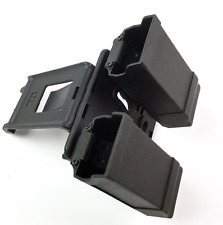 Military Army Belt Paddle Style Double Magazine Holster Pouch For Gl 9mm .40cal
