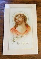 Vtg Jesus Christ Ecco Homo Religous  Iconagraphy Glass Lithograph
