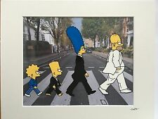 The Simpsons - Abbey Road - Hand Drawn & Hand Painted Cel