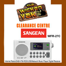 Sangean Internet Radio/DAB+/FM-RDS/USB/Network Player Digital Receiver-WFR-27C