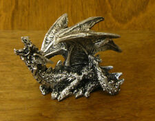 GSC Silver Look DRAGONS FIGURINE #71384-J  NEW from Retail Store,     1.75""