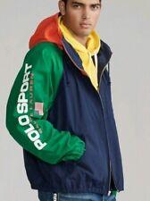 XL Ralph Lauren Polo Sport Colour Block hooded  Windbreaker Jacket hoodie XL UK