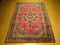 6.5 x 10 VINTAGE Handmade 1930s Antique Anatolian Bakhtiary Veggie Dyed Wool Rug