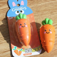 School Carrot Eraser Student Supplies Detachable Gift Multicolor Writing Tools