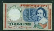 NETHERLANDS - 1953 10 Gulden Circulated Banknote