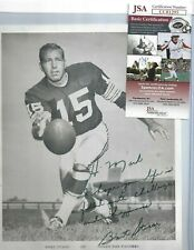 Bart Starr Autographed Green Bay Packers Football HOFer 8x10 Picture JSA COA