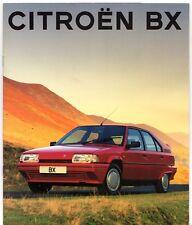 Citroen BX 1992-93 UK Market Sales Brochure TXi TXD TZD Turbo GTi Hatch Estate
