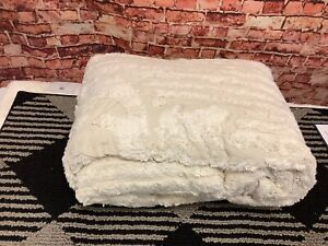 Better Trends Ashton Chenille Queen Bedspread Ivory Ultra Soft