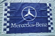 Blue Car Racing Flag Banner for Mercedes-benz flag 3x5 FT Free shipping