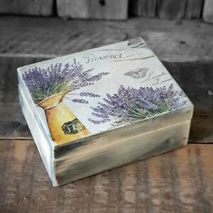 Vintage Holzkästchen Holzschatulle Provence Shabby Retro Landhaus Handarbeit