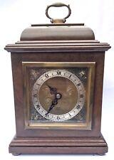 ELLIOTT LONDON Walnut & Burr Walnut Bracket Mantel Clock MAPPIN & WEBB LTD