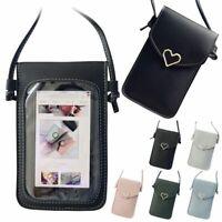 Women Girl Cross-body Touch Screen Phones Wallet Shoulder Bag Leather Pouch Case