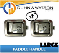 Large Paddle Handle (Lock, Latch) x2 Camper Trailer, Caravan, Toolbox, Motorhome