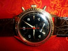HANHART Black Dial FLYBACK brevetto super-Chrono Cronografo Calibro 120 in acciaio inox