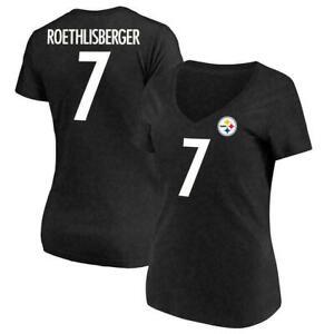 PITTSBURGH STEELERS NFL BEN ROETHLISBERGER #7 WOMENS NAME&NUMBER SHIRT M/L