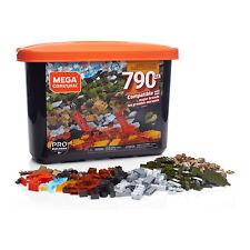 Mega Construx 790 Piece Large Bulk Building Brick Block Toy Set w/ Storage Tub