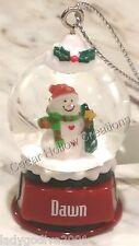 Personalized Snow Globe Ornament - Dawn - FREE Shipping