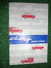 1965 DAF DAFFODIL L LE COMBI OWNERS INSTRUCTION MANUAL HANDBOOK ORIGINAL PAPER