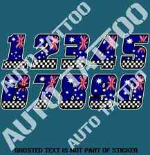 RACE NUMBERS DECAL STICKER RALLY RACE MOTOR CROSS DRIFT JDM DECALS