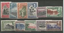 CEYLON 1935-36, Set to 1R, SG 368-378 - LIGHTLY MOUNTED MINT