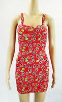 Iron Fist Red Cherry Skull's Short Sleeve Stretch Body-con Dress Pencil dress
