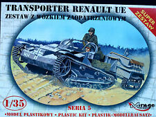 RENAULT UE WITH TRAILER - GERMAN ARMY, MIRAGE HOBBY, SCALE 1/35