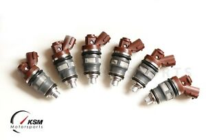 6x 1000cc fit Denso Side Feed Fuel Injectors for TOYOTA Supra 2JZ 1JZ GTE 1J 2J