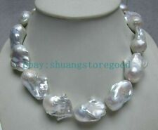 HUGE GENUINE NATURAL AAA++ SOUTH SEA 14x20MM WHITE BAROQUE PEARL NECKLACE 18''