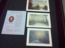 "Robert Burns Wilson -- Ky Heritage Society: Three Watercolor 1974 Releases <30"""