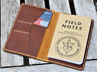 Handmade Cover Wallet Field Notes Card Thoroughbred Leather Sunset Oil Tan Cream
