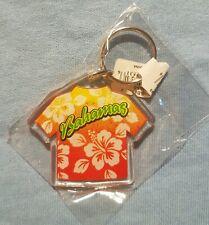 BAHAMAS Flower Shirt Souvenir Acrylic Keychain NEW