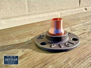 15mm Copper Malleable Iron Floor / Wall Flange Pipe Mount Fits 15mm Copper Pipe