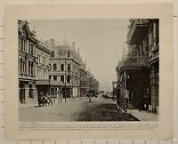 1899 Aufdruck Colonial South Afrika Untere St.George Strasse Umhang Stadt Bay