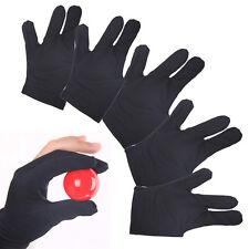 Nylon Cue Billard Pool Shooters 3 Finger Handschuhe Schwarz Größe passt neu