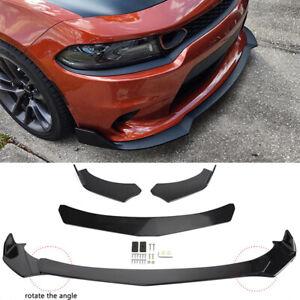 For Dodge Charger SRT SXT RT 4X Front Bumper Lip Splitter Spoiler Glossy Black A