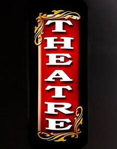 1'  LED LIGHTED 3D CURVED HOME THEATER theatre SIGN CINEMA SIGN WALL SCONCE