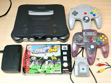 Nintendo 64 / N64 Console + ISS 64 Game + Expansion + AV Cable