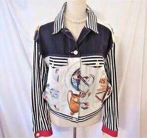 Apriori NWT cotton print jacket sz M