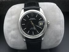 Vintage Tudor Prince Oysterdate Automatic 25 Jewel Stainless Steel Watch Black