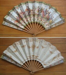 Advertising Fan, Super 1920s - Paris, France Restaurant - Type A - French