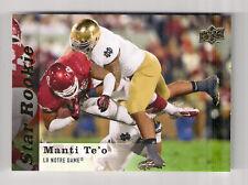 2013 UPPER DECK MANTI TE'S STAR ROOKIE RC