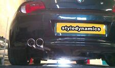 BMW z4 exhaust system,3.0.custom stainless steel exhaust,sport rear box.custom