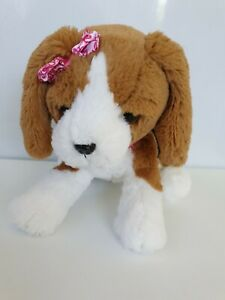 Mattel Barbie Dog Plush Brown Puppy Bark Sneezes Nose Collar Lights Up 30cm
