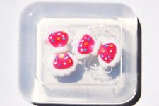 Clear-silicone jewelry bow Cabochon 22X14mm. Free USA shipping.(2-75)
