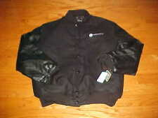 Verified Athlete Men Black Varsity Tall Wool Leather Jacket L Holloway NEW TAGS