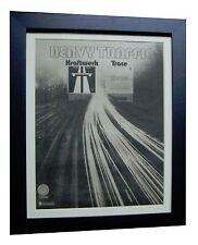 KRAFTWERK+Autobahn+RARE ORIGINAL 1974 POSTER AD+QUALITY FRAMED+FAST+GLOBAL SHIP