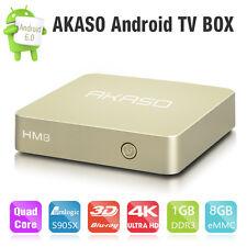HM8 Smart OTT TV Box 4K Android 6.0 Amlogic S905X 64-bits Quad-Core 1G+8G #AK
