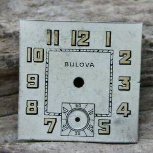 BULOVA MILITARY TRENCH ART DECO WRIST WATCH FACE DIAL 20.8x20.5mm (J2F2)