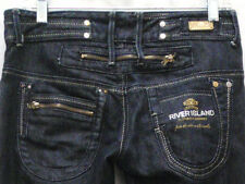 River Island Sexy Boot Stretch Embellished Jeans Low-Rise Dark Wash Size 10R